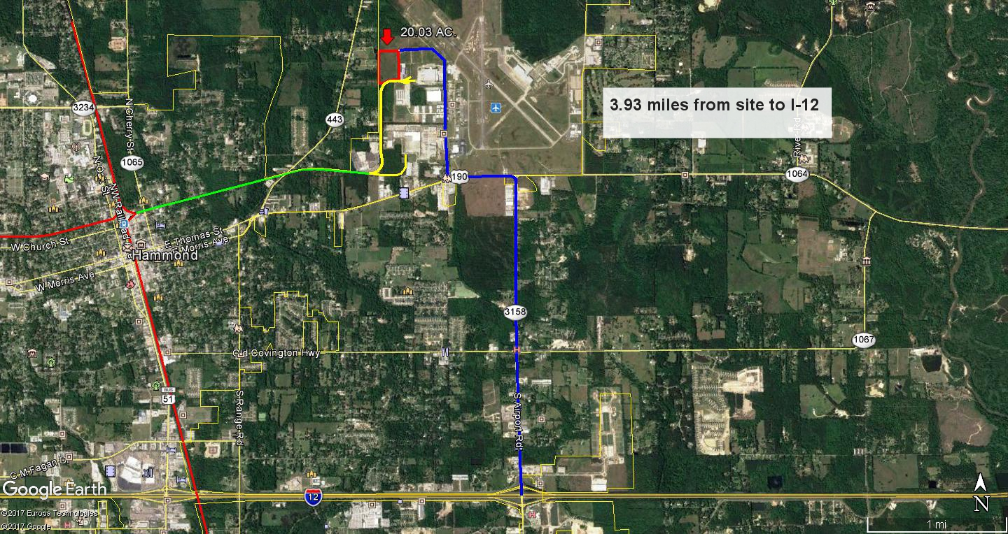 Airport Plaza--Route to I-12, Interstate & HIghways